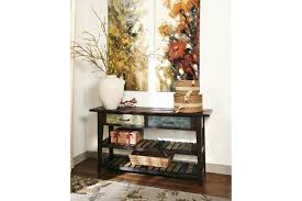 Dark Wood Sofa Table Mestler Sofa Console Table Ashley Furniture Homestore