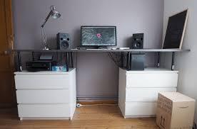 bureau design ikea bureau avec caisson ikea