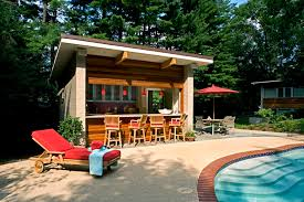 Cabana Ideas by Backyard Pool House Ideas