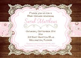 items similar to lace rustic baby shower invitation pink vintage