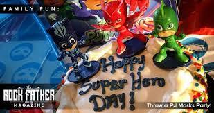 pj masks party national superhero birthday