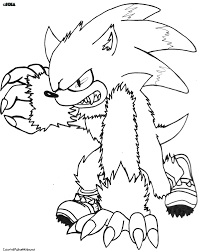 coloring pages sonic the werehog coloring pages