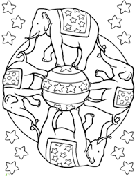 circus elephant mandala coloring pages mandala coloring pages of