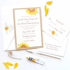 Sunflower Wedding Invitations Sunflower Wedding Invitations Archives Watercolor Wedding