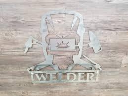 welder mask skulls metal art wall art home decor