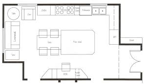 kitchen floor plans islands kitchen design create floor plan free plans with two