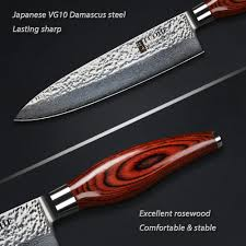 Damascus Steel Kitchen Knives Tuohe 8 Inch Chef Knives Japanese 67 Layers Damascus Steel Kitchen