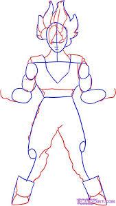 draw super saiyan goku dragon ball step step drawing