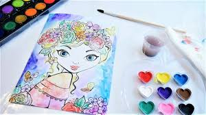 beautiful u0026 easy water color painting sketch from fashion angels