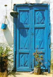turquoise blue paint blue doors and windows another bag more travel