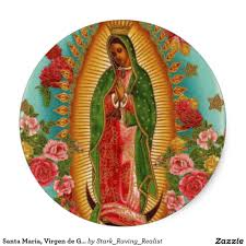 halloween city santa maria santa maria virgen de guadalupe classic round sticker y pinterest