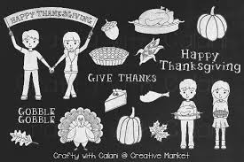 thanksgiving chalkboard clipart illustrations creative market
