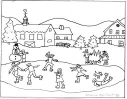 winter scenes coloring pages 608744 coloring pages free