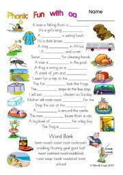 Oa Worksheets 3 Pages Of Phonic With Oa Worksheet And Key 15