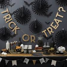 Spider Web Decoration For Halloween Ginger Ray Trick Treat Halloween Party Partyware Bunting Napkins