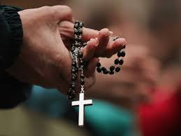 in border rosary assemble to pray against abortion