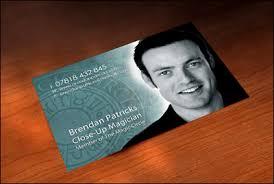 Magician Business Cards Contact Brendan Patricks London Based Close Up Magician