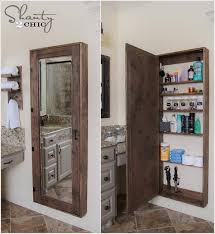 Bathroom Mirror Storage How To Make Mirror Storage Home Design Garden