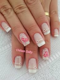 cute daisy with bow on nails nails app and manicure