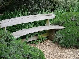 outdoor u0026 garden intriguing curved wooden outdoor patio bench