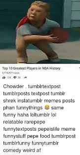 Nba Memes Tumblr - top 10 greatest players in nba history 3718827 views 5k 13k chowder