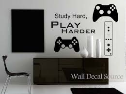 wall decal source etsy game controllers wall decal gamer reusable available
