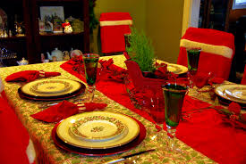 furniture good looking christmas dinner table decoration ideas