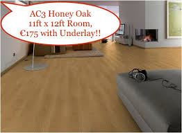 honey oak laminate wood flooring 11ft x 12ft room just