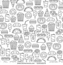 seamless pattern food seamless pattern fast food icons stock vector 519340579 shutterstock