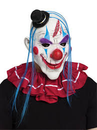 Scary Halloween Clown Costumes Horror Circus Clown Jester Scary Halloween Mask Costume