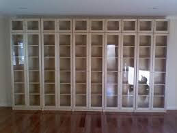 Billy Bookcase With Glass Doors Ikea Glass Door Billy Bookcase My Future Cave Pinterest