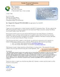 cover letter request for proposal cover letter cover letter for
