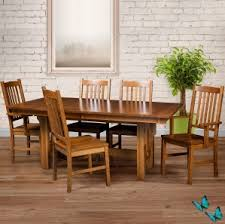 round table van ness mission trestle dining table set amish dining room kitchen chairs