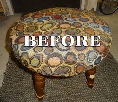 recycle a flea market stool into country style home decor