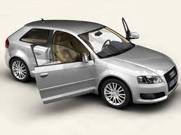 audi automobile models audi a3 3 door 2009 3d model vehicles 3d models sedan 3ds max lwo