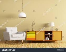 modern interior living room wooden dresser stock illustration