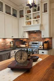 kitchen with brick backsplash impressive faux brick for kitchen backsplash best 20 faux