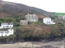 doc martin s surgery tamarack pond to the left is the old school were lots of scenes are shot