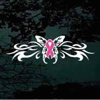 flaming tribal butterfly awareness ribbon decals stickers