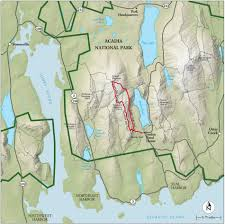 Map Of Mountains In United States by Best Acadia National Park Hike Trail Map National Geographic