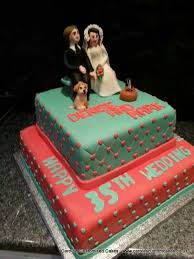 35th wedding anniversary gift coral and jade 35th wedding anniversary celebration cake