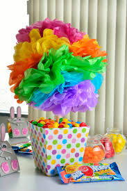 my spare time craft tissue paper pom poms party ideas