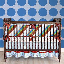Surfer Crib Bedding Gabe Blue And Brown Baby Boy Crib Bedding Caden