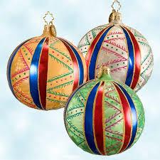 radko christmas ornaments french country ball set fantasia 3