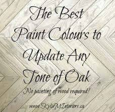 best paint colours for oak that is orange or yellow toned on