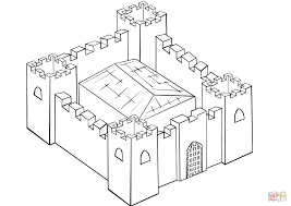 fortified castle coloring page free printable coloring pages