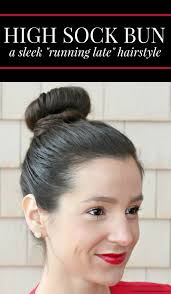 sock bun hair sleek high sock bun tutorial diary of a debutante