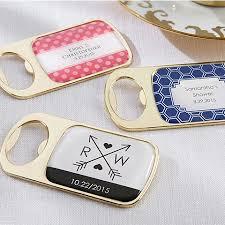 bottle opener favors stylish personalized gold bottle opener wedding favors bridal