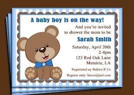 design teddy bear baby shower invitations