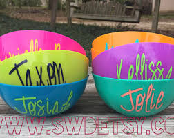 personalized bowl snack bowls etsy
